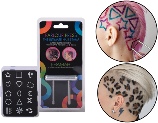 Штамп для креативного окрашивания волос, Framar Parlour Press 3150 руб