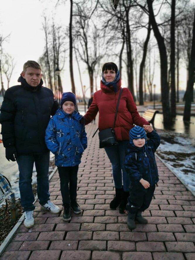 Галина с мужем и детьми. Фото из личного архива
