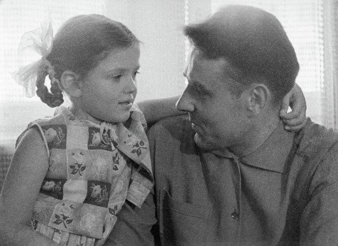 Владимир Комаров с дочерью