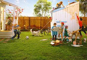 Домики для бедных поросят. Как обустроить детскую площадку на даче