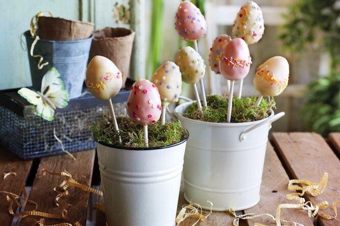 Кейк-попсы «Пасхальные яйца»