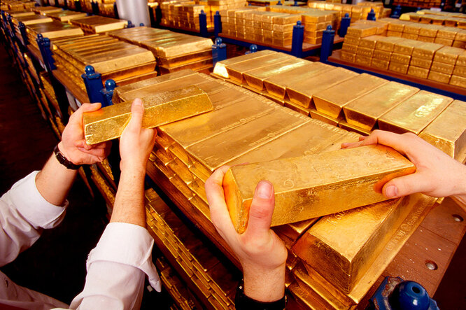 Хранилище золота в Лондоне