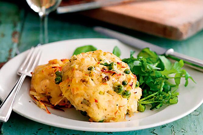 Куриные котлеты с сыром и картофелем