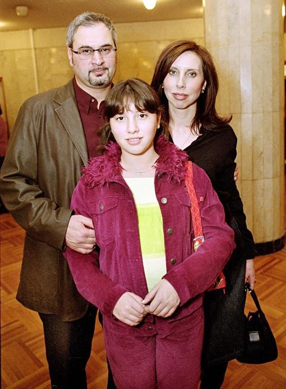 Валерий Меладзе и Ирина Малухина с дочкой