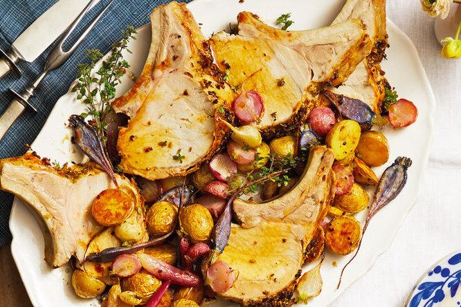 Рецепт свинины, запеченной с овощами