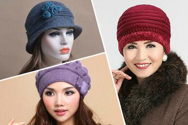 15 шапок, вкоторых все женщины похожи натёток, имодные шапки наосень-зиму