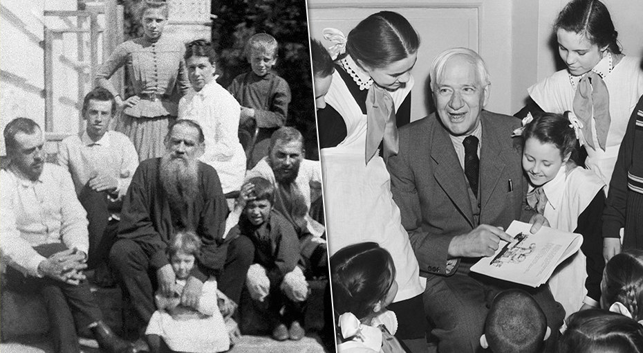 Знаменитые русские писатели, укоторых было много детей