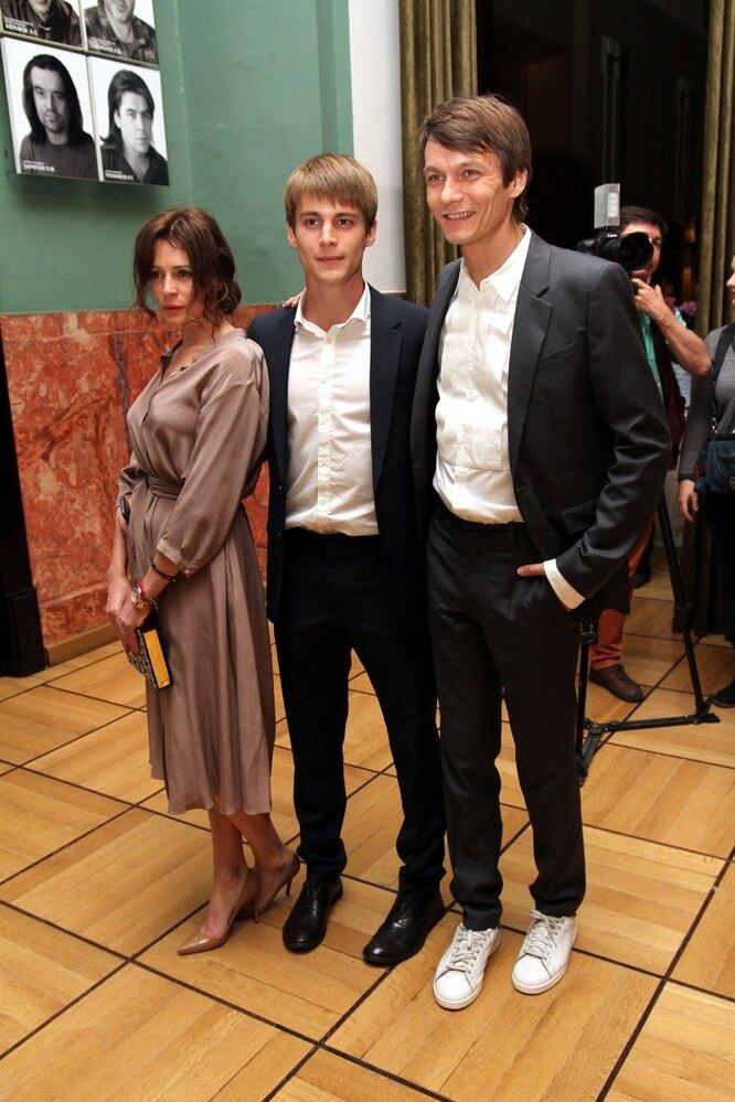 Оксана Фандера и Филипп Янковский с сыном Иваном