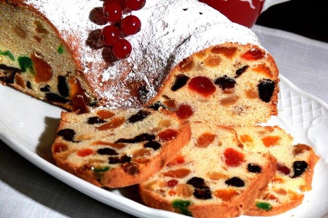 Вкуснейший Новогодний кекс с сухофруктами