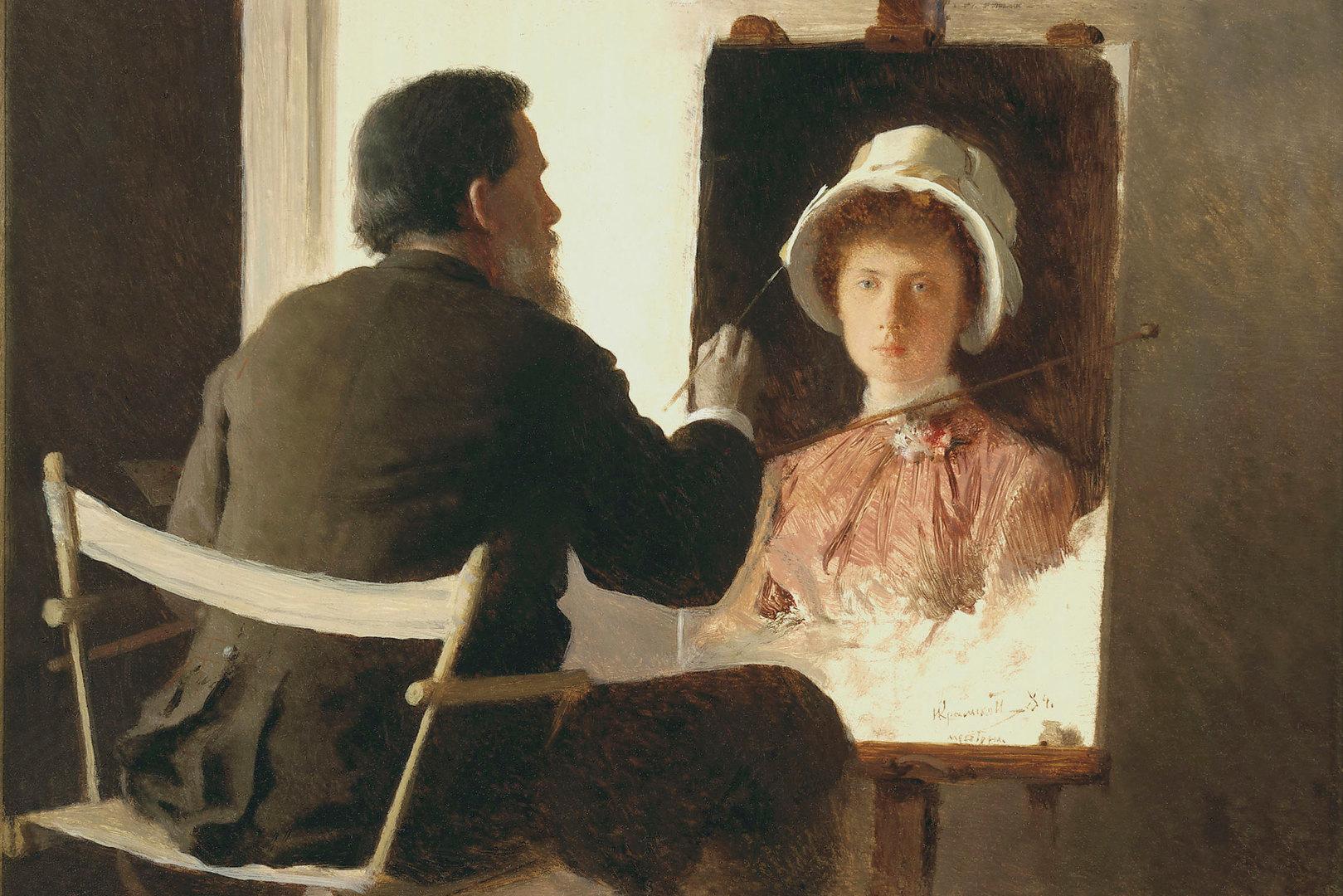 Крамской, портрет дочери художника