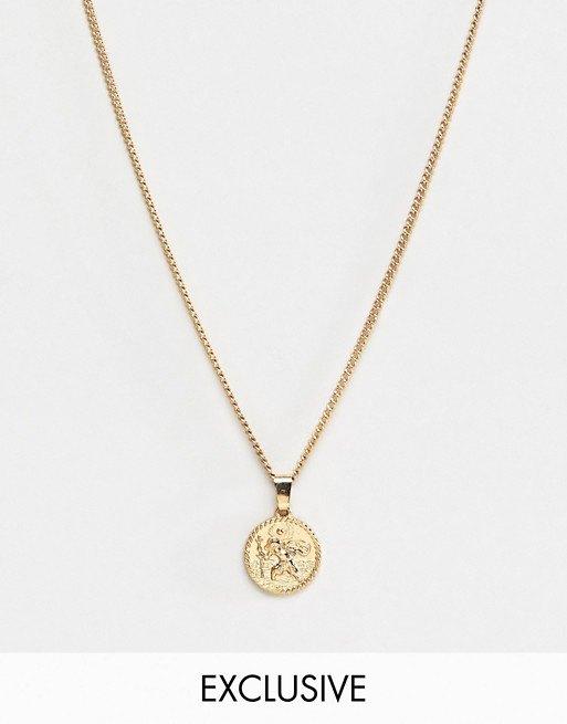 Эксклюзивное золотистое ожерелье сподвеской ввиде монеты Liars & Lovers, 450 руб.