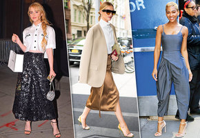Главный обувной тренд: как и с чем носить босоножки с тонкими ремешками