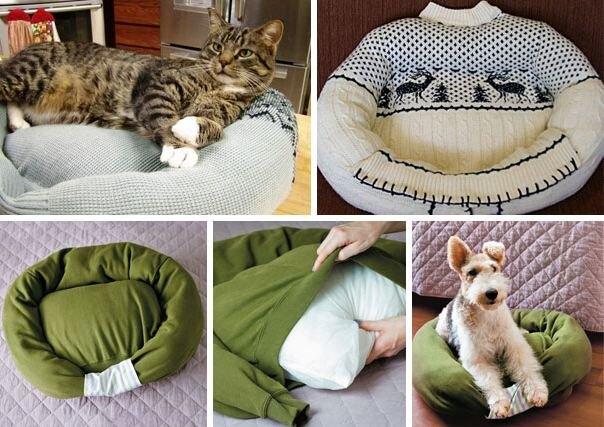 Лежанки из свитеров