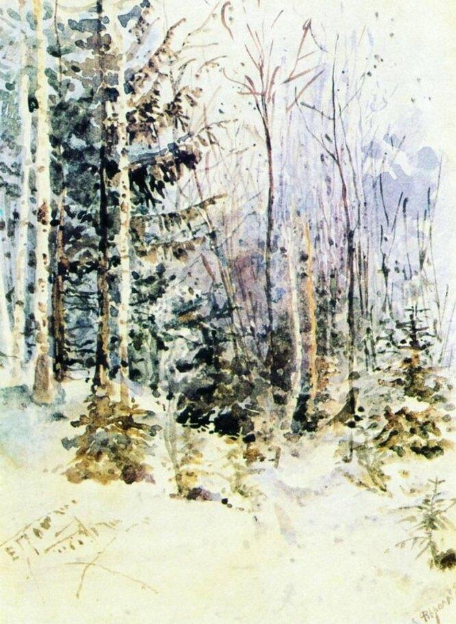 Зимний пейзаж, 1885