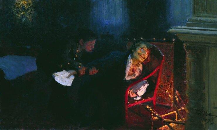«Гоголь сжигает рукопись второй части
