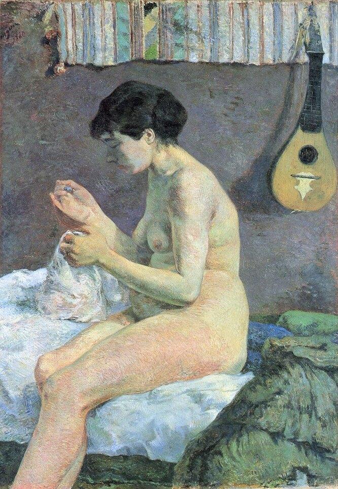 Шьющая женщина. 1880