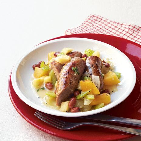 Рецепт овощного рагу с сосисками