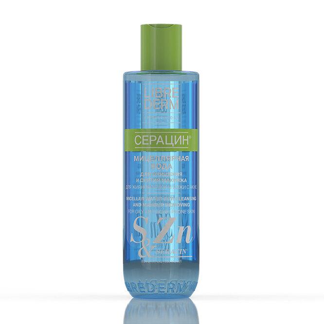 Мицеллярная вода с пантенолом для жирной и комбинированной кожи «Серацин», Librederm