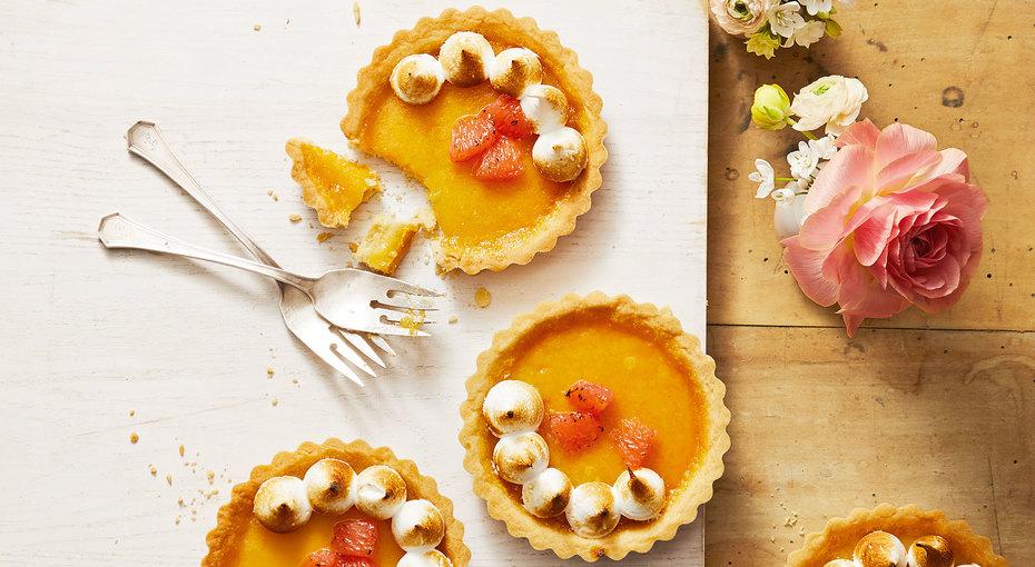 Рецепт тарталеток сгрейпфрутом