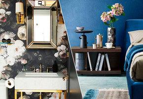 Синие кухни, обои в цветок и еще 10 дизайнерских трендов, которые в моде в этом году