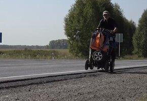 Потерявший зрение житель Армавира преодолел 4000 км по России