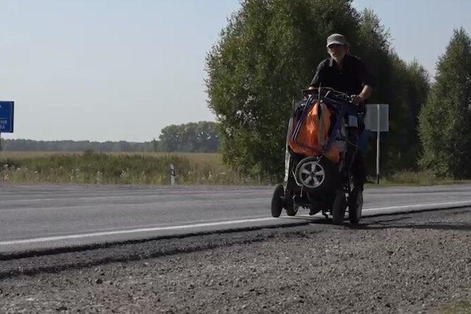 Потерявший зрение житель Армавира преодолел 4000 км поРоссии