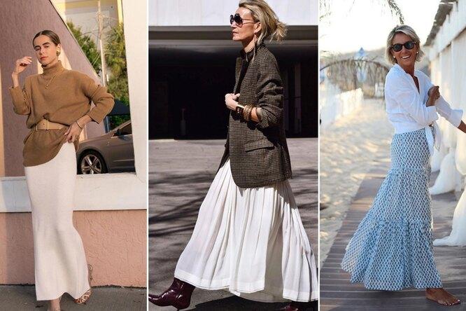 С чем носить юбку впол: стильные тренды, которые легко повторить