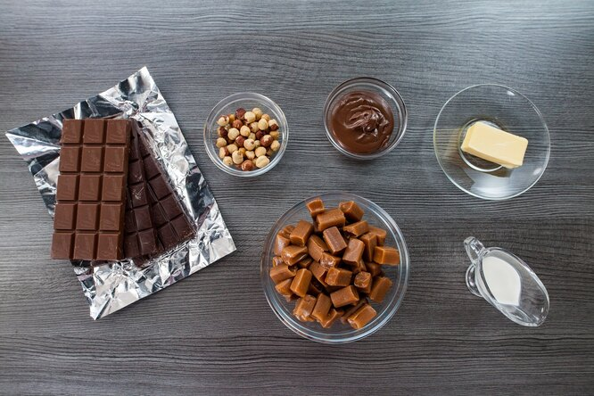Ингредиенты для конфет, похожих на Тофифи