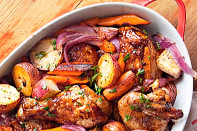 Запеченный цыпленок в стиле барбекю