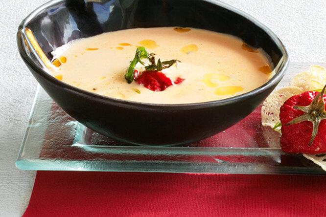 Белый томатный суп