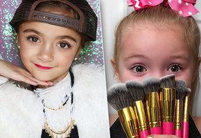 Мимими: дети-блогеры показывают модный макияж