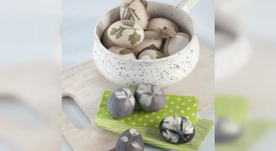 Покраска яиц наПасху - необычный рецепт