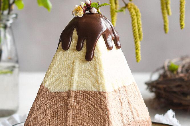 Рецепт творожной пасхи  «Три шоколада»