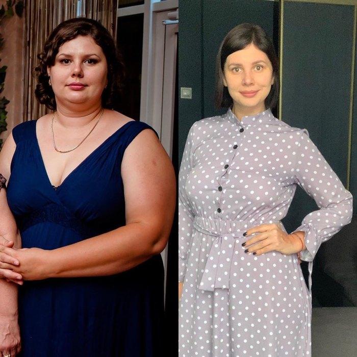 После похудения марины