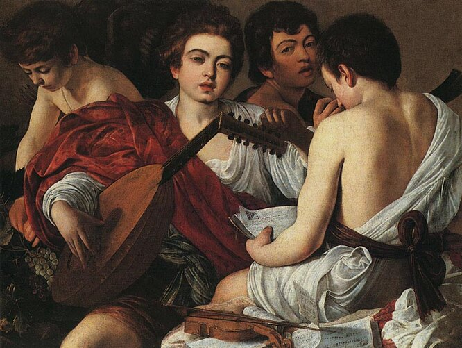 «Музыканты», Караваджо (1595)