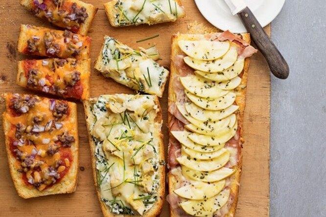 Пицца на французском багете