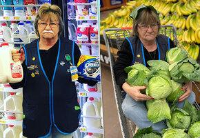 Хмурая бабушка странно рекламирует товары в магазине — но покупатели в восторге