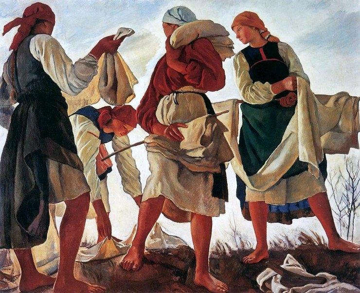 «Беление холста», 1917 г., Государственная Третьяковская галерея