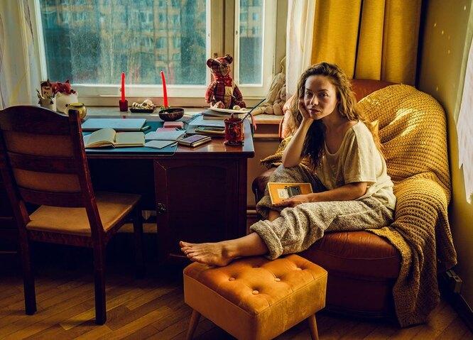 Рина Гришина любит проводить время дома