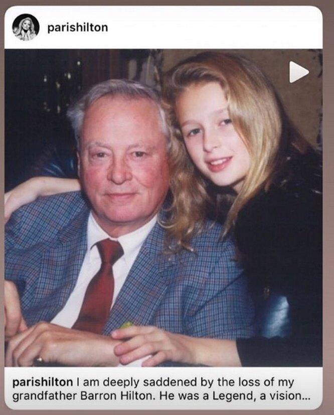 Пэрис Хилтон с дедушкой Барроном