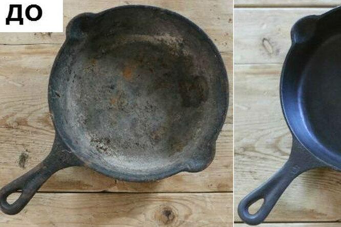 Чистим старую чугунину. Как вернуть жизнь кухонной посуде иубрать снеё нагар