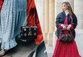 Девочка-зима: 5 модных способов носить платье с пуховиком