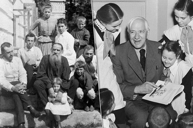 Знаменитые российские исоветские писатели, укоторых было много детей