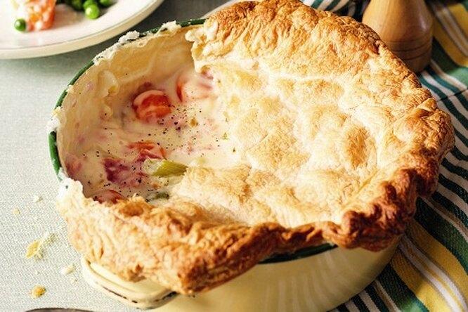 Пирог с ветчиной и овощами