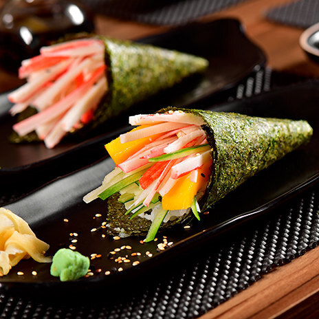 Рецепт темаки – суши с крабом