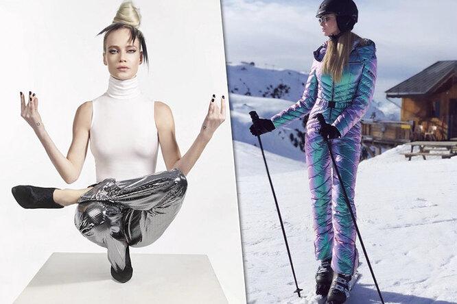 Горные лыжи, пилон ийога: как звезды готовятся кпляжному сезону