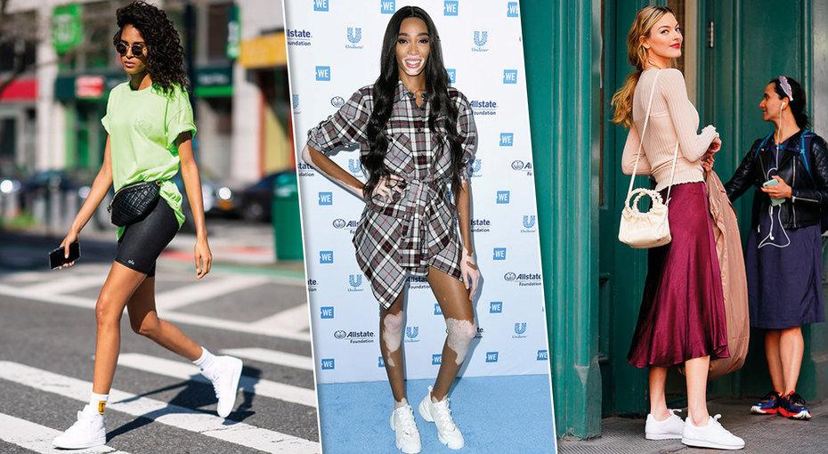 Как ис чем носить белые кроссовки: учимся узнаменитостей