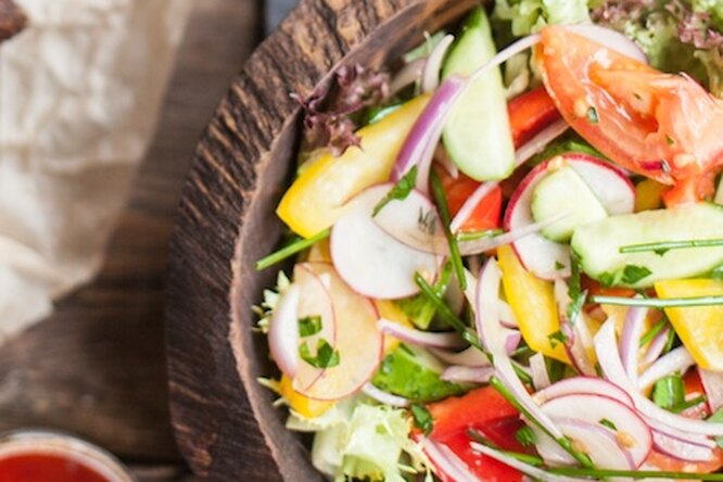 Рецепт свежего овощного салата