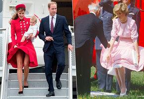 Держи ее! 13 фото на которых юбка королевских особ упорхнула