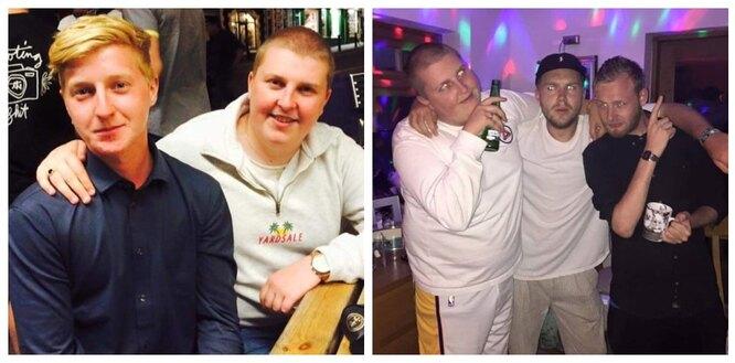 Харви Квирк (на 1 фото - справа, на 2 - слева) до похудения
